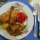Жаренная курица с картошкой
