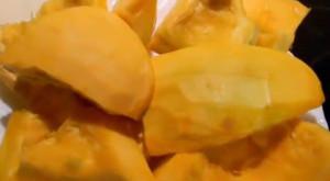 Кусочки сырой тыквы
