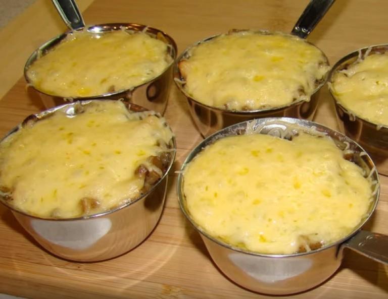 Жульен рецепт классический с курицей и грибами пошаговый рецепт с