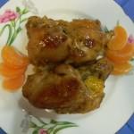 Куриные ножки с мандаринами