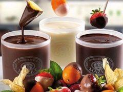 Шоколадно фруктовое фондю