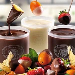 Шоколадное фондю фото с фруктами