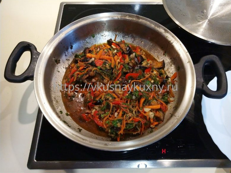 Аджапсандали классический рецепт в сковороде ВОК