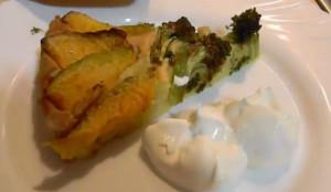 Блюдо пирог из тыквы и брокколи