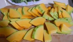 Пластинки из сырой тыквы