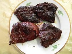 Сушено-копченное мясо говядины