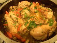 Куриные голени с болгарским красным перцем