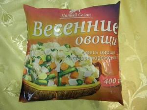 Свежезамороженные овощи в упаковке