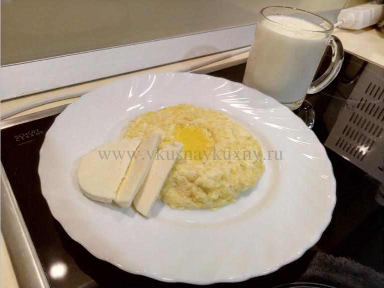 Сырная каша фото с кефиром