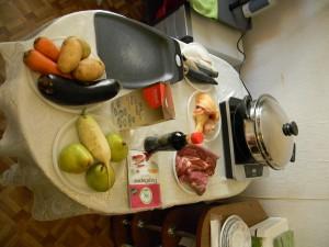 Продукты и сковорода ВОК от компании Amway