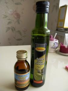 Кунжутное масло и яблочный уксус