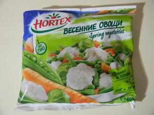 Весенние овощи в упаковке