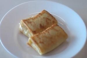 Блины приготовленные на молоке с творогом