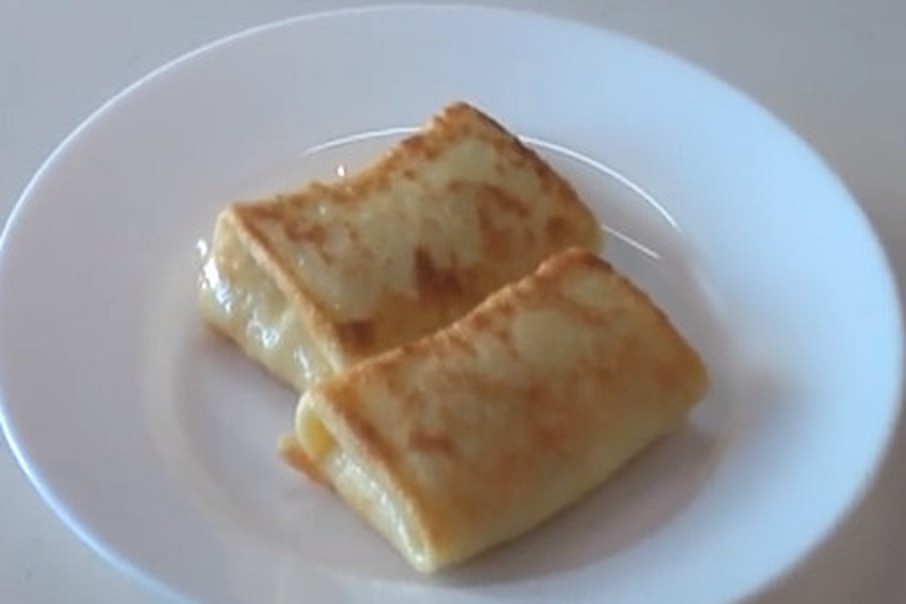 Рецепт блинов с творогом на молоке классический