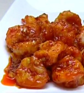 Креветки в кляре по китайски в ароматном соесе