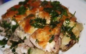 Мясо по французски с картошкой