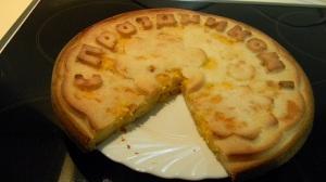 Пирог с тыквой и изюмом и творогом