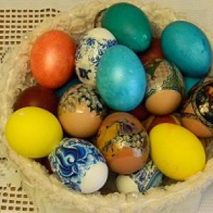 Крашенные яйца пасхальные картинки