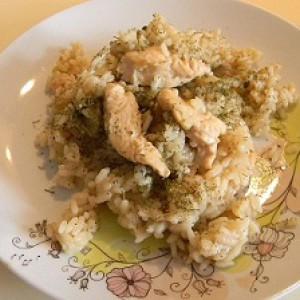Отварной рис с куриным филе