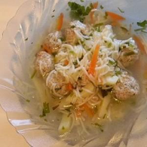 Суп с куриными фрикадельками и картошкой