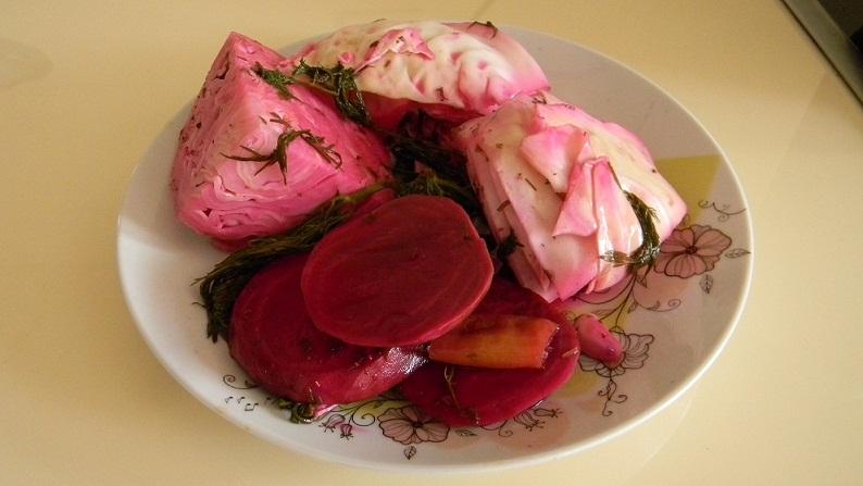 капуста морковь свекла мясо салат рецепт