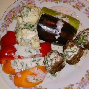 Кюфта по азербайджански с овощами