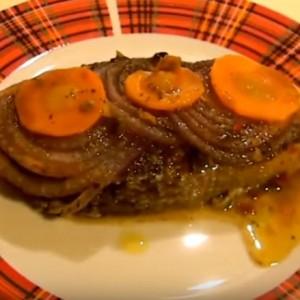Запеченный лосось с овощами в фольге