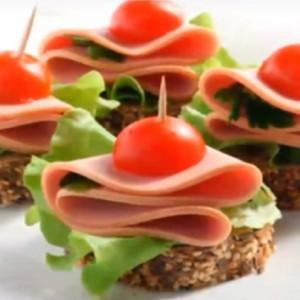 Бутерброды канапе с колбасой рецепты с фото