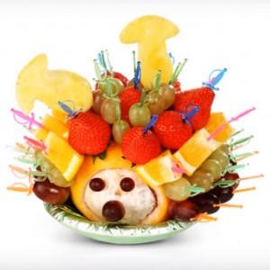 Канапе для детей из фруктов на день рождения фото
