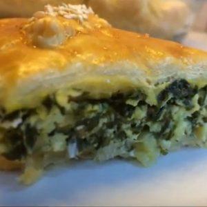 Пирог с шпинатом и брынзой