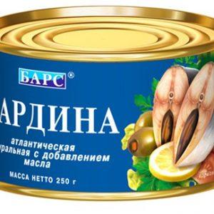 Сардина консерва рыбная