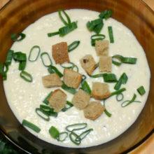 Cырный суп пюре