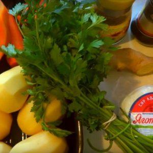 Овощи тушеные с адыгейским сыром