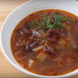 рецепт супа из сушеного мяса с фасолью
