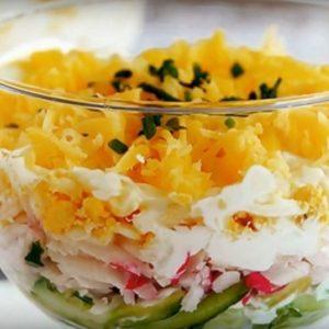 Салат с яйцом из крабовых палочек ингредиенты