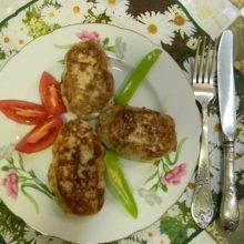 Куриные котлеты с кабачком