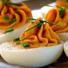 Яйца фаршированные печенью трески рецепт