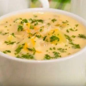 Как приготовить суп пюре из курицы, сыра и сливок
