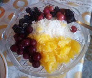 Начинка для фарширования утки из ягод и фруктов с рисом