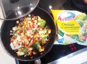Овощи по деревенски готовим на сковороде