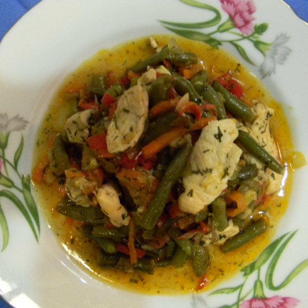 Овощное рагу с куриной грудкой рецепт с картофелем