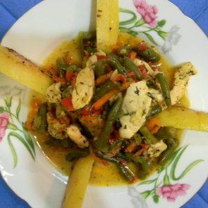 Рецепт рагу с курицей и овощами и картошкой
