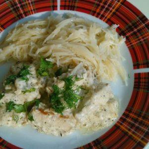Как приготовить бефстроганов из курицы с макаронами и сметаной