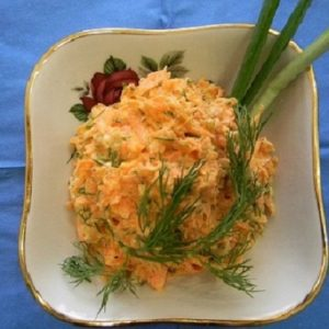 Морковный салат рецепт с чесноком