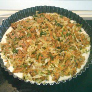 Быстрый пирог с капустой на кефире рецепт для ленивых