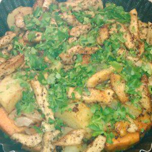 Как пожарить курицу с картошкой в духовке вместе с тыквой