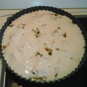 Вкусный пирог капустный заливной на кефире рецепт
