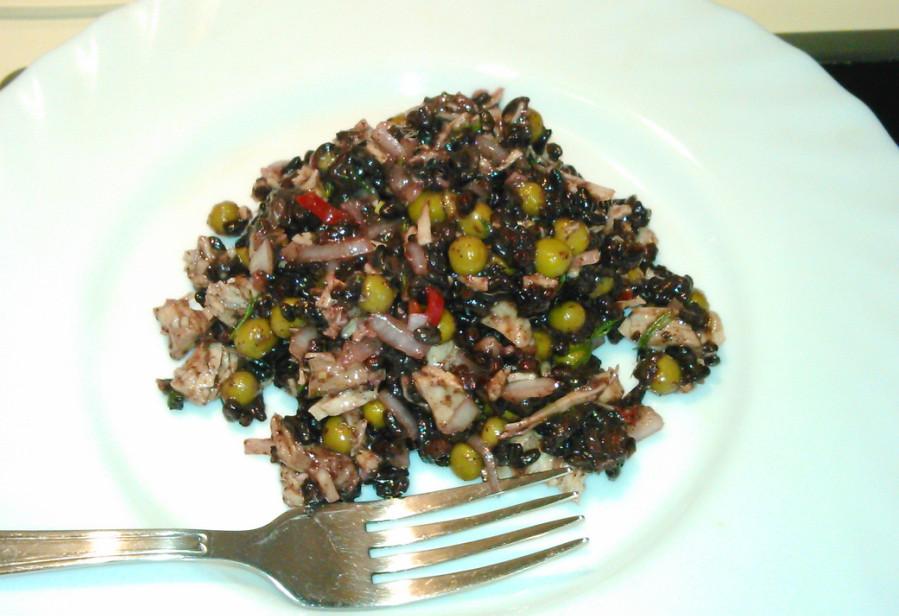 Салат из индейки рецепт с черным рисом
