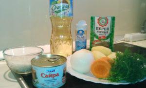 Как сварить суп из сайры консервы ингридиенты