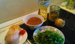 Простой рецепт плова с курицей ингридиенты